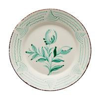 two webster, floral and wave design, green and white, spanish plates, home decor, kitchenware