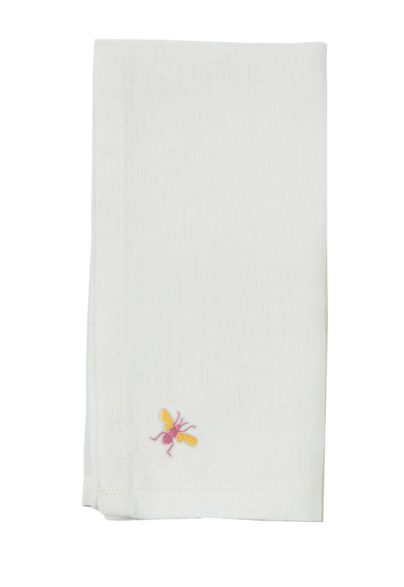Bee Linen Napkins, Set of 6