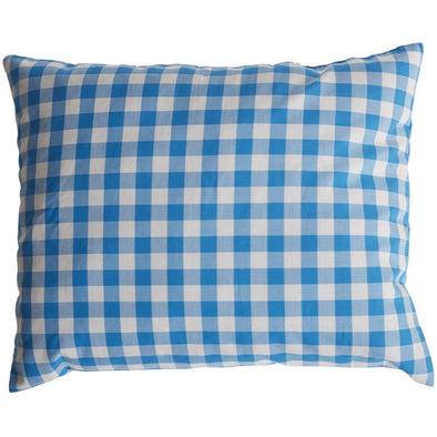 lavender scented, blue and white gingham pattern, throw pillow, two webster, home decor