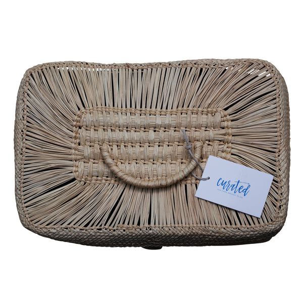 Rectangle Woven Basket with Lid