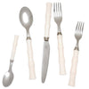 flatware, fork, spoon, knife, white, silver, two webster