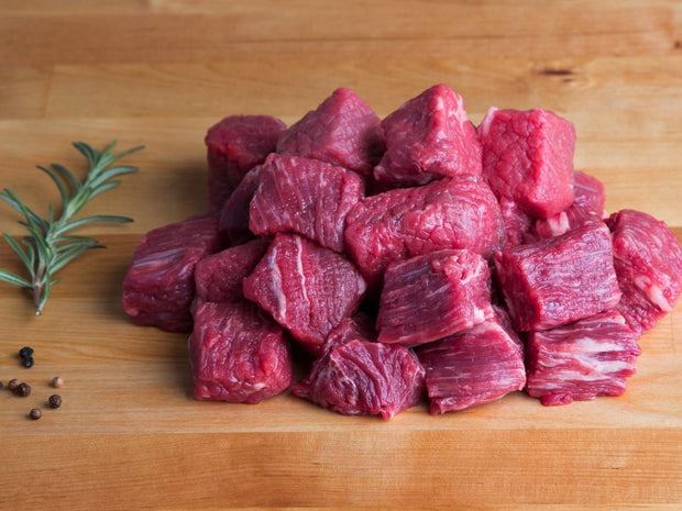 Stewing Beef, Diced & Hand Cut