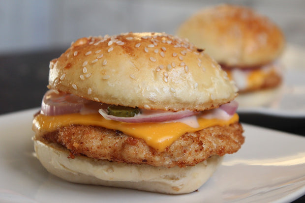 Chicken - Chicken Burgers, 6oz patties box of 10