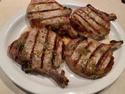 Pork - 8 x 10oz Pork Loin Chop, Bone-In, 2 per pack