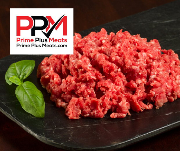 Lean ground beef aged 21 days