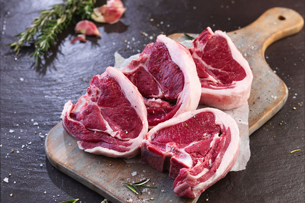Halal - Lamb - Loin Chops, 1lb pkg(4), box of 3, from New Zealand