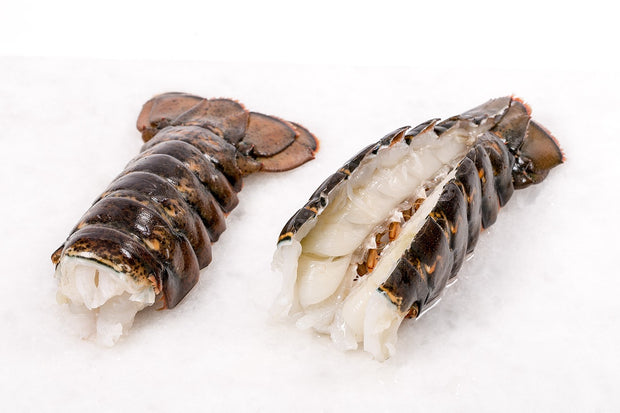Seafood - Lobster Tails, wild-caught from Nova Scotia, Tail-on, 8 x 4oz IQF in 2lb bag