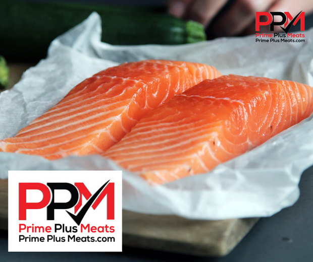 Salmon, Atlantic, individually vacuum sealed, 8 x 6oz fillets