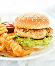 Chicken - Chicken Burgers, 6oz patties, individually packed, box of 8