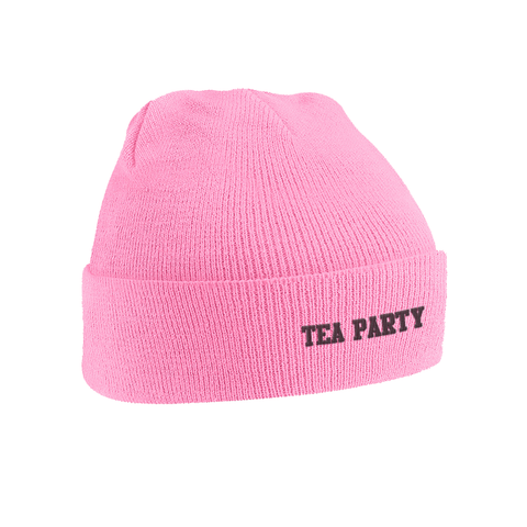'Tea Party' Pink Beanie