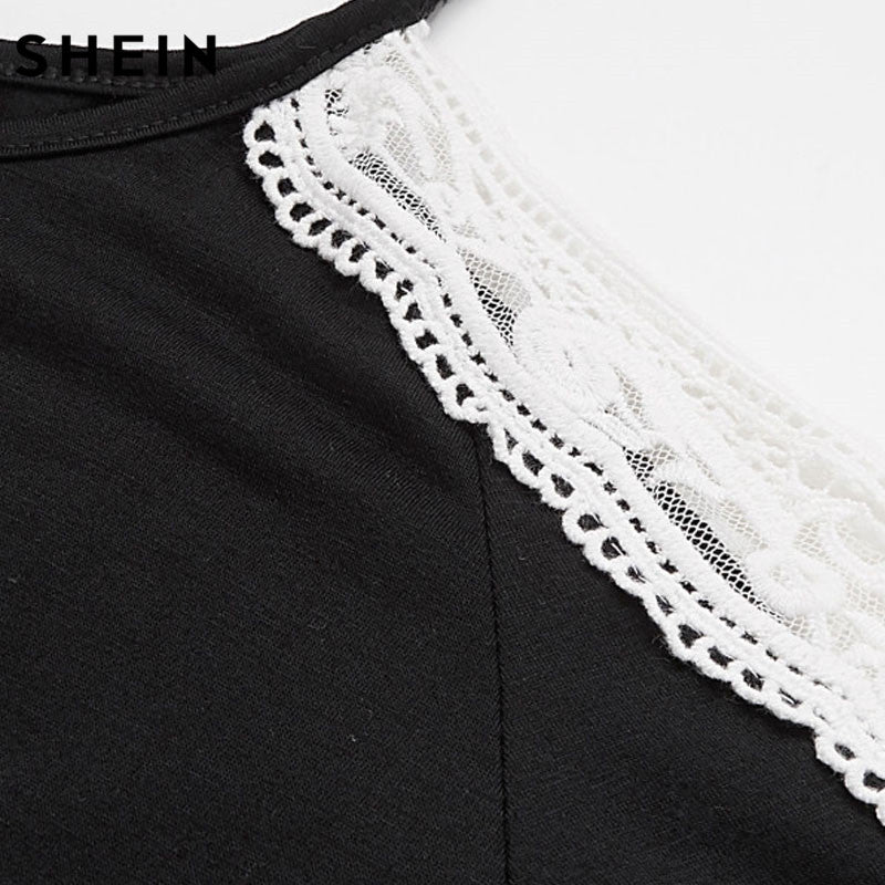 775cfe28b1dd8f Plus Size Black Long Sleeve Casual Cut Out Lace Cold Shoulder Top ...