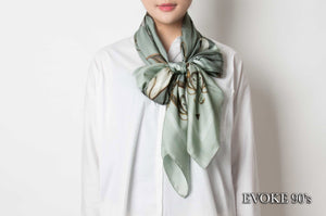Green Bug Silk Scarf (135cm x 135cm)