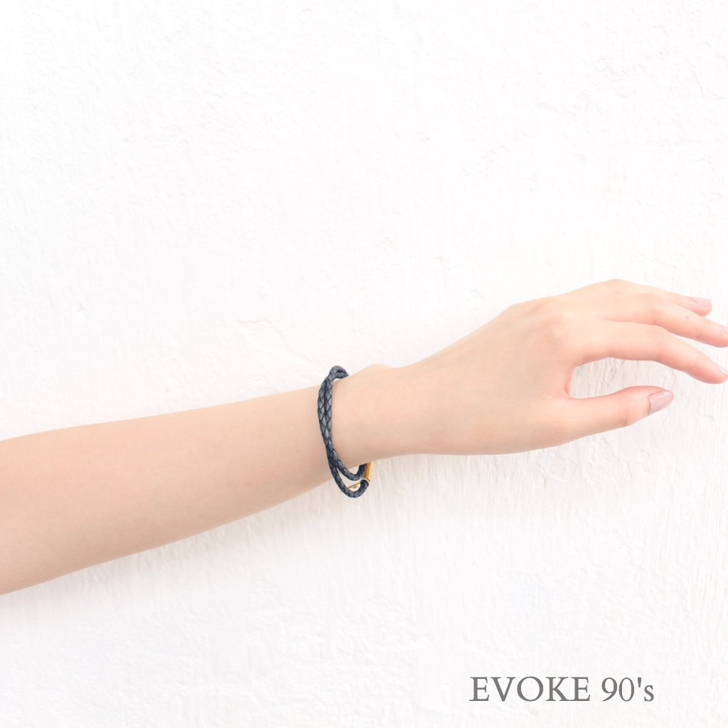 Earth Tone Navy Leather Bracelet - EVOKE90's