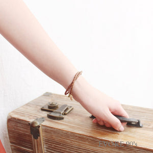 Earth Tone Nude Leather Bracelet - EVOKE90's