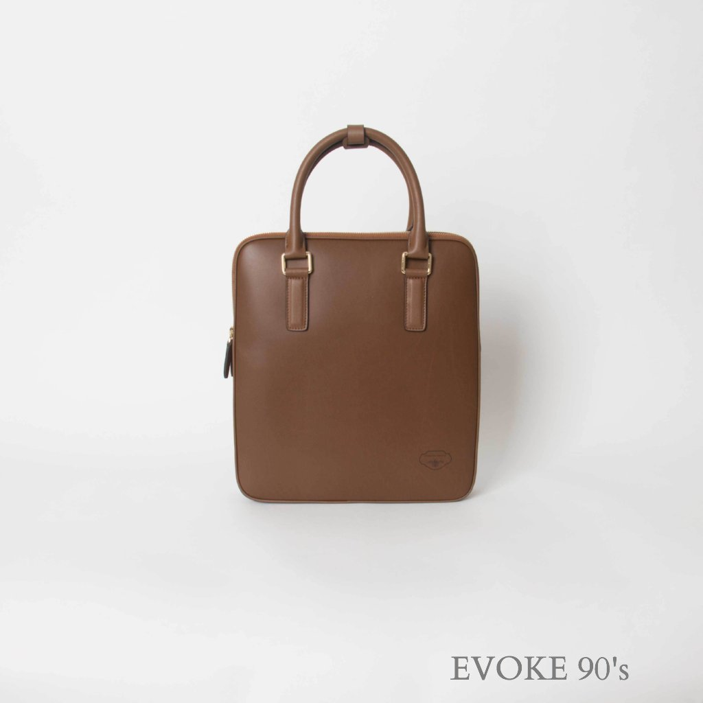 Genuine Leather Handbag (Light Brown) - EVOKE90's
