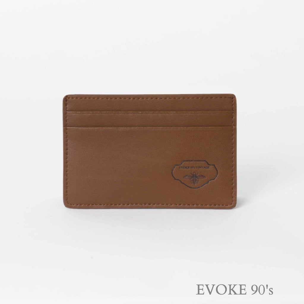 Genuine Leather Cardholder (Light Brown) - EVOKE90's