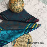 Blue & Yellow Bug Pocket Silk Scarf (35cm x 35cm)