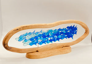 Shoal of Fish in Wood Surround