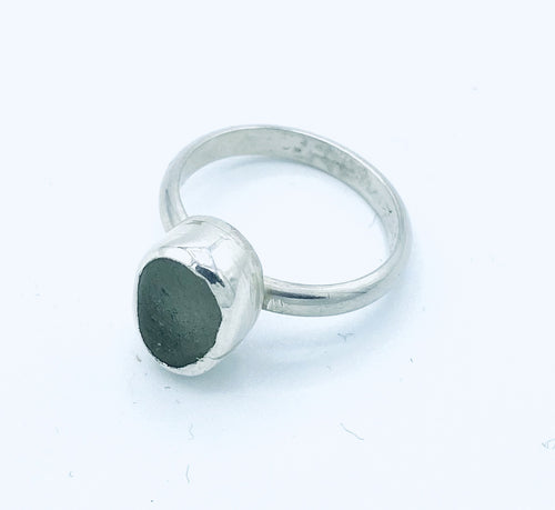 Clear Seaglass Ring - Annie Baddiley