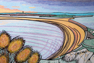 Golden Sunset Over Chesil Beach (Print)