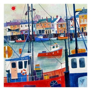 Red Sun Over Weymouth (Print)