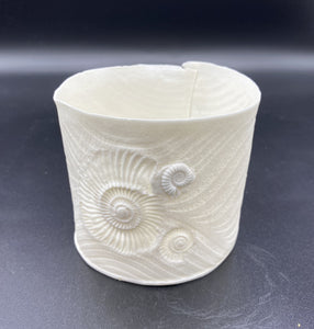 Ammonite & Wave Tea Light