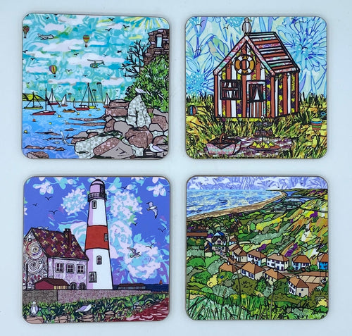 Four Caroline Tucker Coasters - Set 1