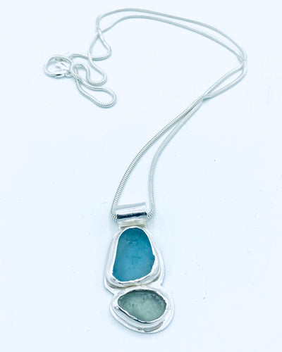 Blue/Green Pendant - Annie Baddiley