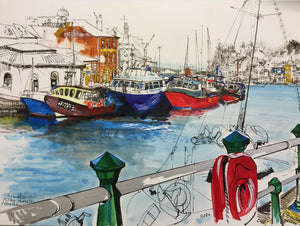 Weymouth Harbour Fishing Boats