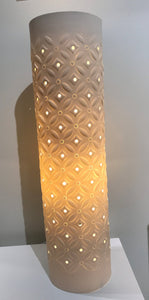 Large Cream Starburst Lamp
