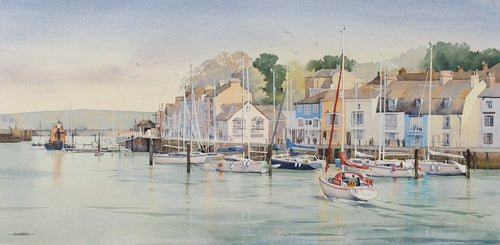 A Busy Afternoon, The Old Harbour, Weymouth (Limited Edition Print) Oliver Pyle