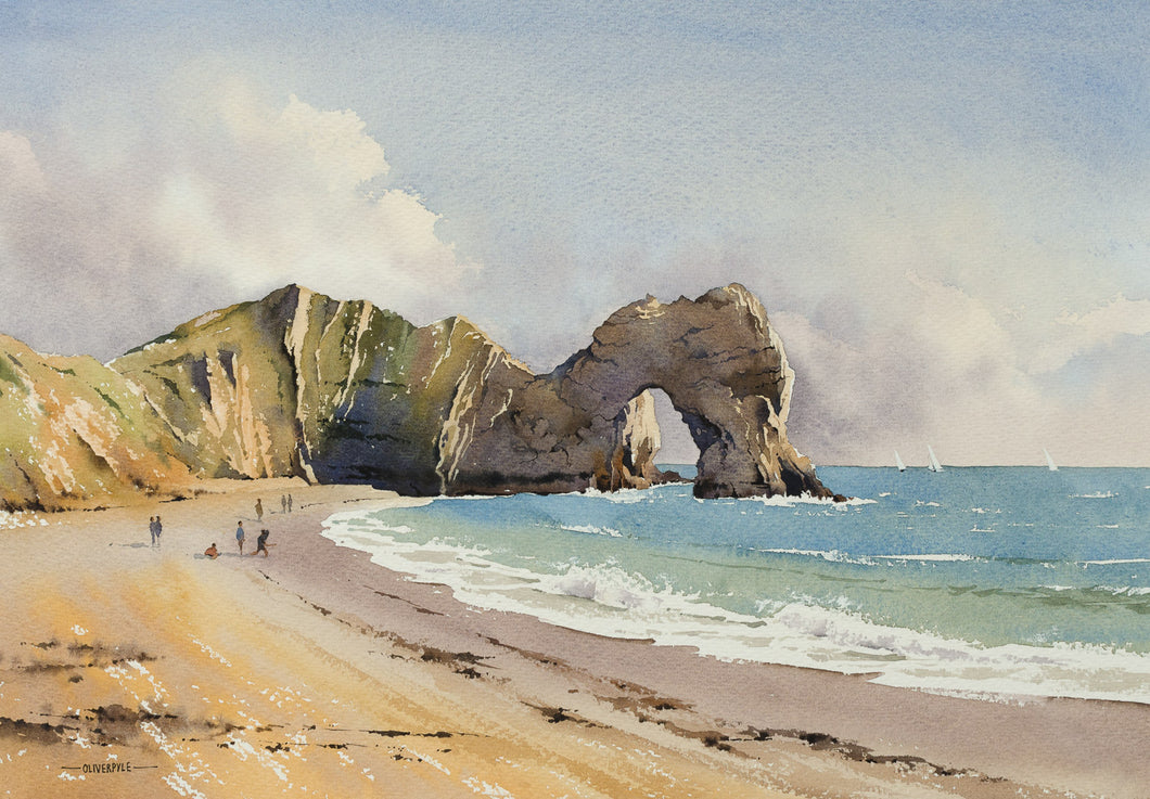 Skimming Pebbles, Durdle Door