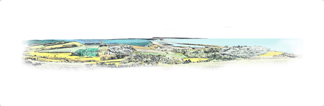 Portland from Abbotsbury Hill (Print)