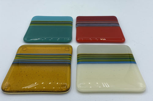 Four David Pascoe Linear Coasters - Set #1
