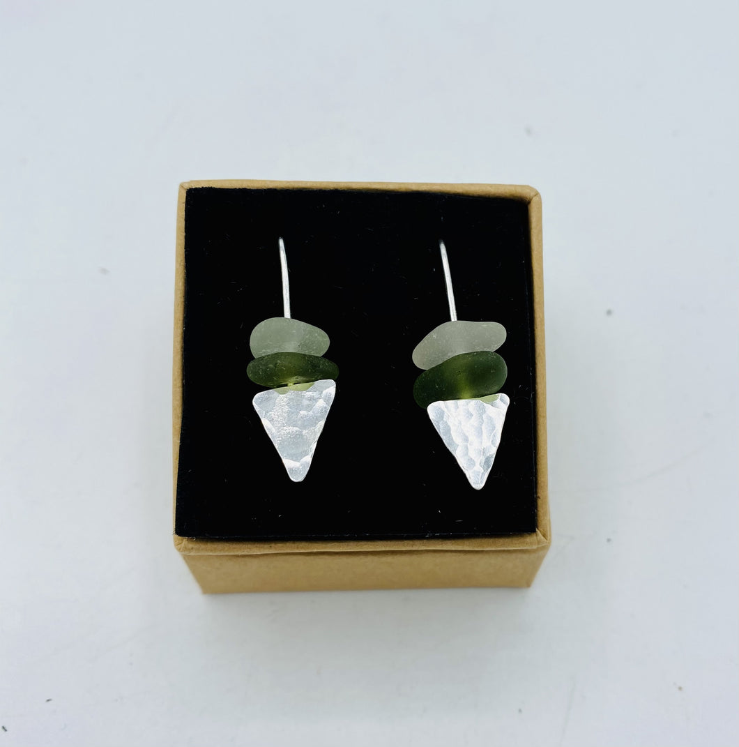 Triangle Dangler Earrings - Annie Baddiley