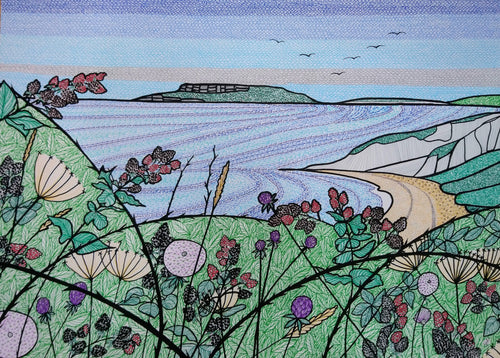 Blackberries Over Osmington Bay