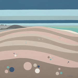 Lets do it at Chesil Beach (40x40cm)