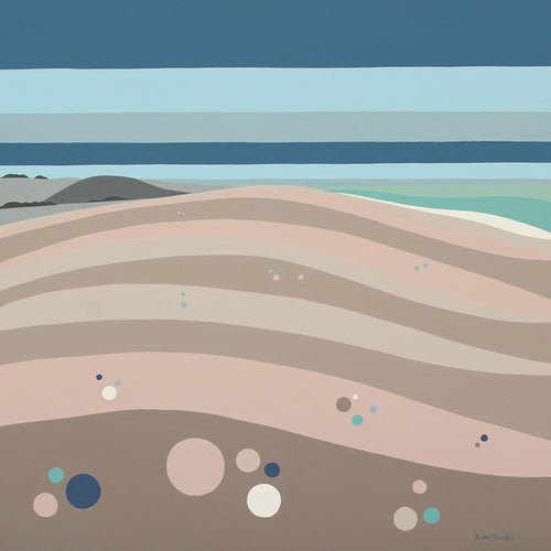 Lets Do It on Chesil Beach (30x30cm)