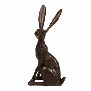 Hare Sitting Upright (Solid Bronze)