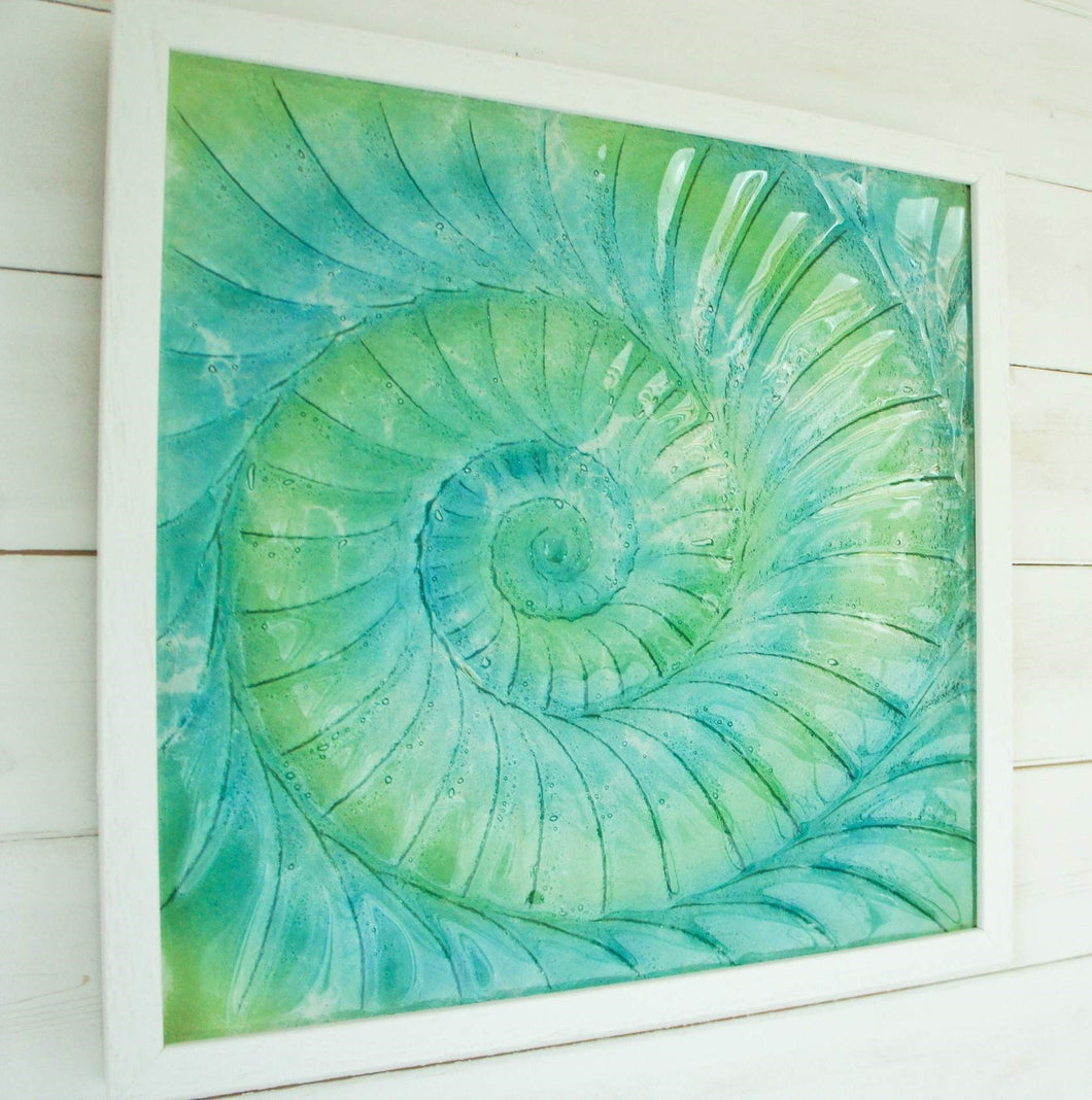 Ammonite Frame (Large Square)