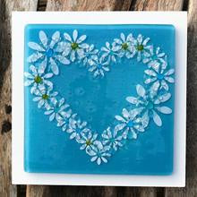 Daisy Wall Art Panel - Large - Turquoise