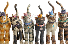 'Royal Furmily' Ceramic Cats