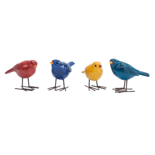 Four Coloured Birds