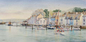 A Busy Afternoon, The Old Harbour, Weymouth (Framed Limited Edition Print)