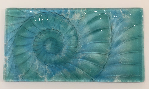 Ammonite Landscape Wall Panel - Medium