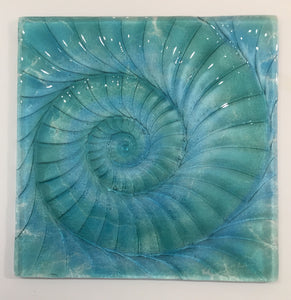 Ammonite Square Wall Panel - Large