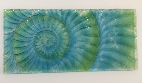 Ammonite Landscape Wall Panel - Large