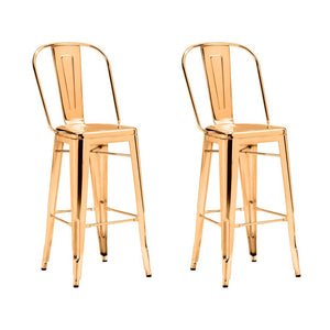 Elio Bar Chair Gold (Set of 2)