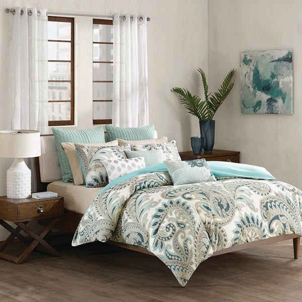 Ink + Ivy Mira 3 Piece 100% Cotton Comforter Set