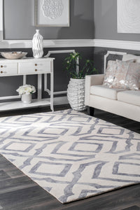 Hand Looped Baggett Area Rug